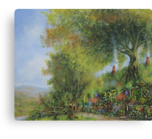 A Long Expected Party (Waiting For The Post) Canvas Print