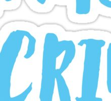 Partners in crime arrow left blue Sticker