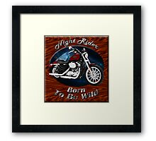 Harley Davidson Sportster Night Rider Framed Print