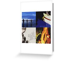 Echo & The Bunnymen Pop Art Greeting Card