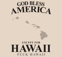 God Bless America Except For Hawaii by crazytees