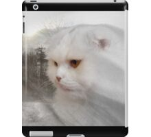Soft and white like snow with a drop of golden sun iPad Case/Skin