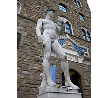 Statue of David Copy, outside the Uffizi, Florence Photographic Print