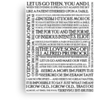 The Love Song of J. Alfred Prufrock Canvas Print
