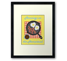 Homestead Breakfast Framed Print