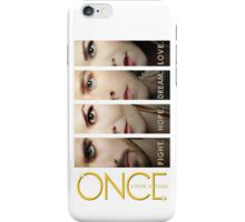 once upon a time, faces version 3 on white, emma swan, prince charming, snow white, hook, killian, ouat, ouat iphone case iPhone Case/Skin
