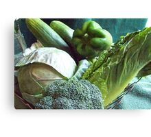 Green Grocery Bag Canvas Print