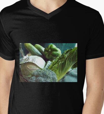 Green Grocery Bag Mens V-Neck T-Shirt