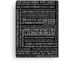 The Love Song of J. Alfred Prufrock 2 Canvas Print
