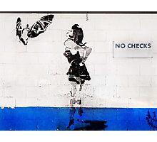 no checks Photographic Print