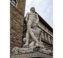 Hercules and Cacus, Florence, Italy Photographic Print