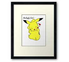 Shockingly Cute! Framed Print