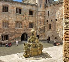 King's Fountain and Courtyard, Linlithgow Palace. Scotland by Miles Gray