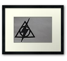 Harry Potter Scar and Deathly Hallows Combination Framed Print