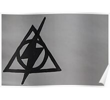 Harry Potter Scar and Deathly Hallows Combination Poster