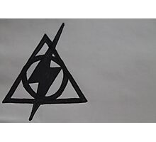 Harry Potter Scar and Deathly Hallows Combination Photographic Print