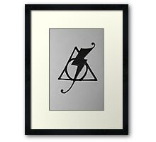 Deathly Hallows Symbol and Scar combination --Fancy Framed Print