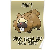 Don't Bidoof More Than You Can Chew Poster