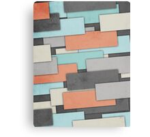 Textured Geometric Abstract Canvas Print