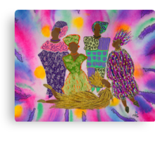 Rainbow Dance Ensemble Canvas Print