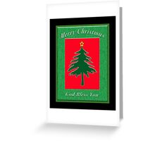 Merry Christmas God Bless You Greeting Card