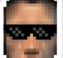 JC and glasses Sticker