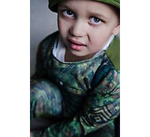 Lil Soldier Photographic Print