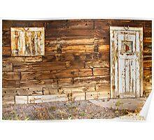 Rustic Old Colorado Barn Door and Window Poster