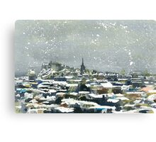 Snowy Edinburgh Canvas Print