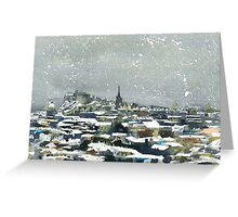 Snowy Edinburgh Greeting Card