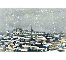 Snowy Edinburgh Photographic Print