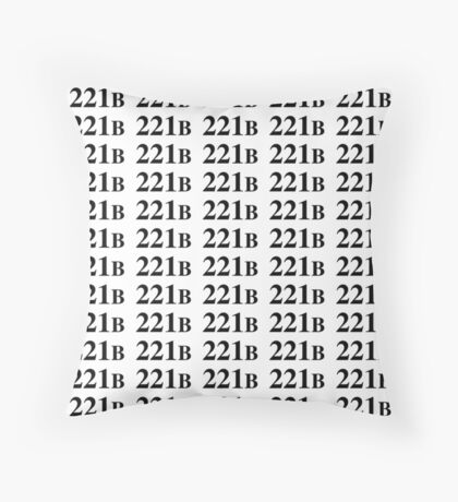 221B - Sherlock Throw Pillow