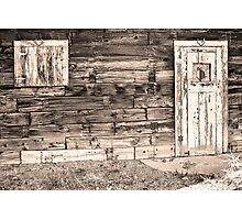 Sepia Rustic Old Colorado Barn Door and Window Photographic Print