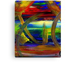 Sailing in Calmness Over A Troubled Sea Canvas Print