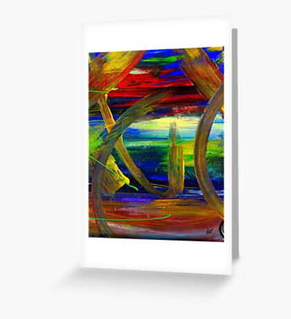 Sailing in Calmness Over A Troubled Sea Greeting Card