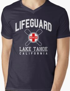 Lifeguard LAKE TAHOE California Mens V-Neck T-Shirt