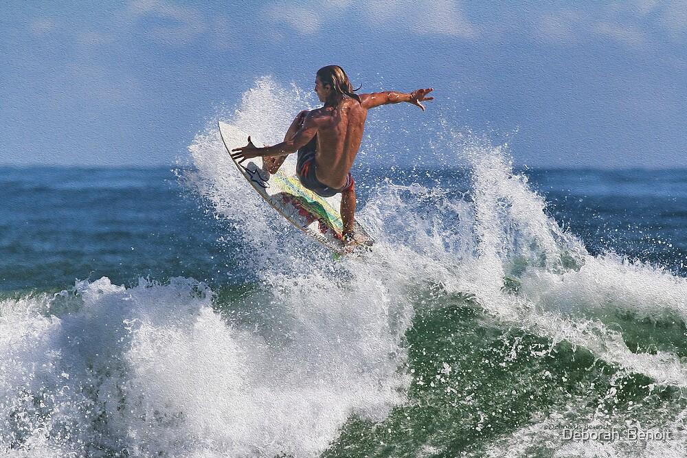 Surfing At Ponce by Deborah  Benoit
