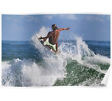 Surfing At Ponce Poster