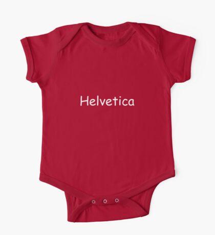 Helvetica One Piece - Short Sleeve