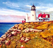 Love a White Lighthouse by Jim Phillips