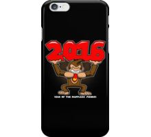 2016, Year of the Pantless Monkey  iPhone Case/Skin