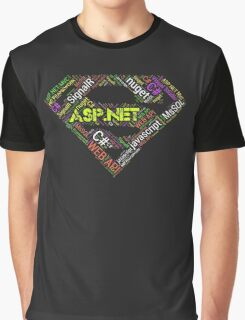 ASP.NET Superman Programmer T-shirt & Hoodie Graphic T-Shirt