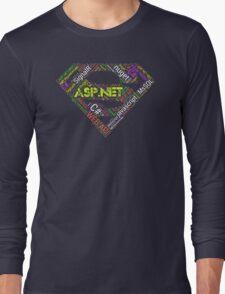 ASP.NET Superman Programmer T-shirt & Hoodie Long Sleeve T-Shirt