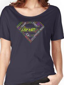 ASP.NET Superman Programmer T-shirt & Hoodie Women's Relaxed Fit T-Shirt