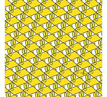 Tessellation Pattern Yellow Parallelograms Photographic Print