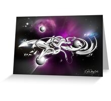Liquid Chrome Greeting Card