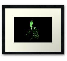 Philippine map art work Framed Print