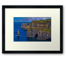 Ireland. County Clare. Cliffs of Moher. Framed Print