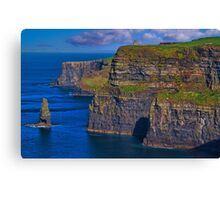 Ireland. County Clare. Cliffs of Moher. Canvas Print