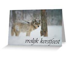 Timber Wolf Christmas Card Dutch 5 Greeting Card